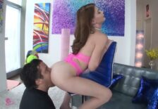 Brunette Hannah Hays Receives the D from Mikey